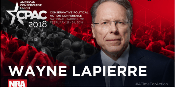NRA President Wayne LaPierre To Speak at CPAC (Conservative Political Action Conference)