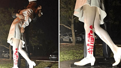 Famous Statue of WWII Vandalized After Sailor's Death With #MeToo Graffiti