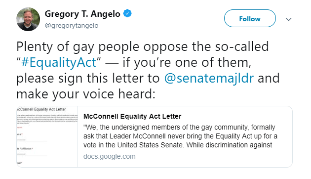 Gay Republican HomoCONS Petition Mitch McConnell to Block The Equality Act