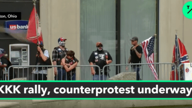 DAYTON, OHIO: 9 KKK Members Face 600 Counter Protester at Massive Rally Fail.
