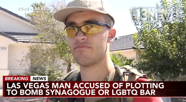 Las Vegas Man Arrested for Plotting Domestic Terrorist Attacks Against Synagogues, Gay Bar
