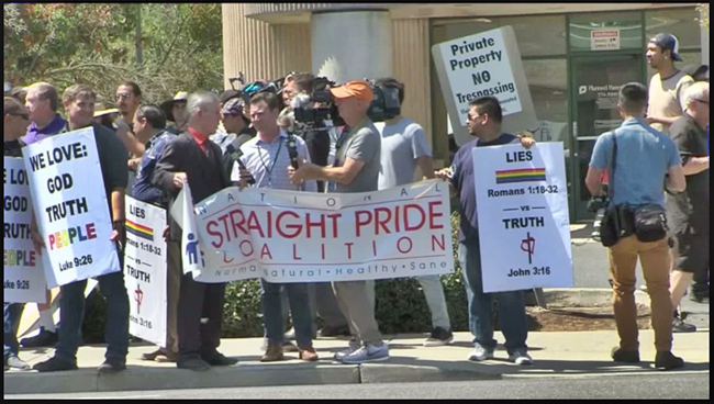 Dozens of Straight Pride Attendees Drowned Out By Hundreds of Counter-Protestors in Modesto, CA