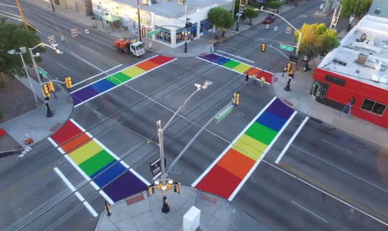 Federal Highway Administration Tells Iowa City To Remove Rainbow Crosswalks, They Refuse