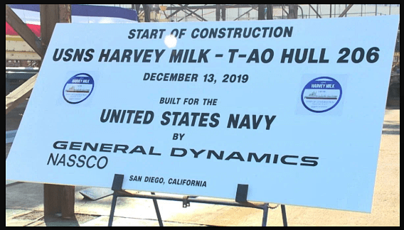 SAN DIEGO: Construction Begins on Historic Naval Vessel USNS Harvey Milk