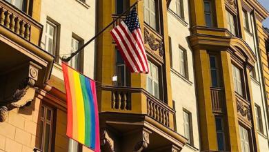 American Embassy Defies Trump and Putin Displays PRIDE Flag in Moscow