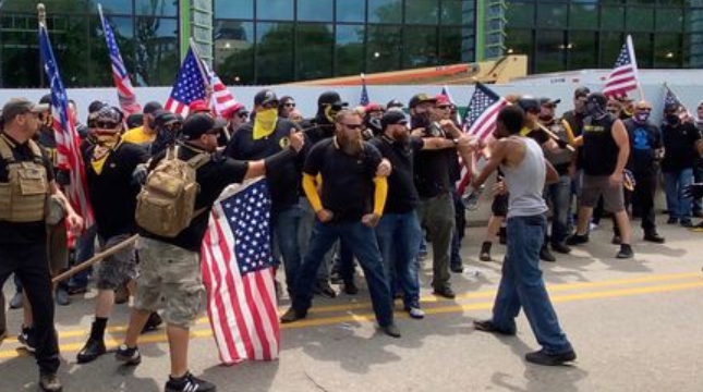 Neo-Nazi Proud Boys Get Their Asses Kicked and Run Out of Town By The Good People of Kalamazoo, Michigan