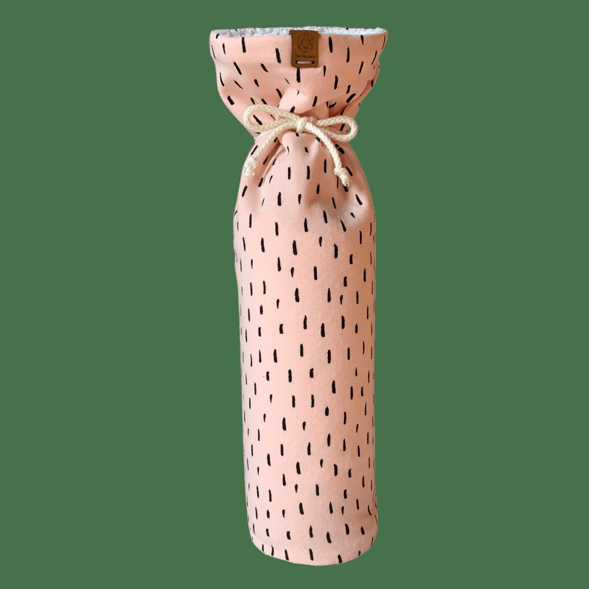 De Doula's Kruikzak roze – babywafel wit