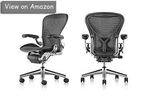 aeron task chair by herman miller highly adjustable wposturefit lumbar support