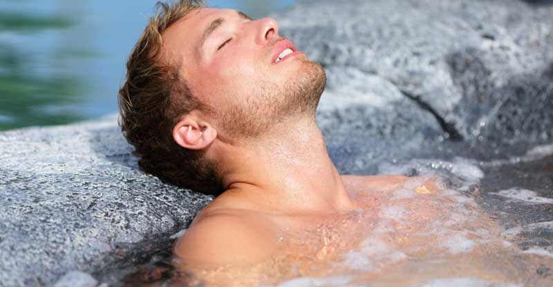 Take a hot bath before going to bed