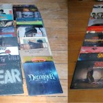 Recent vintage vinyl arrivals, the crates are overflowing