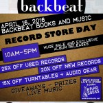 Record Store Day 2016 at Backbeat – The 411
