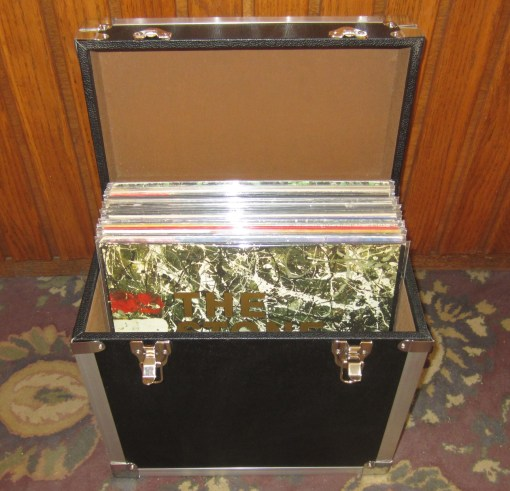 Record Storage Carry Case Open