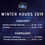 Winter Hours 2019