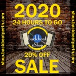 2020 24 HOURS TO GO 20% OFF SALE