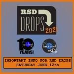 IMPORTANT INFO FOR RSD DROPS – SATURDAY JUNE 12th