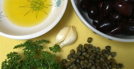 Easy Olive Caper Tapenade for the Trail