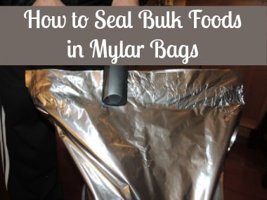 How to Seal Bulk Foods in Mylar Bags BDS