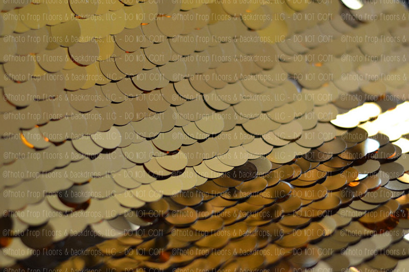 Large Gold Sequin Fabric Photography Backdrop