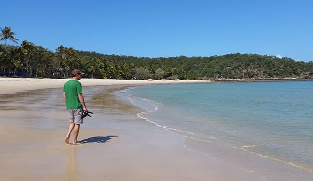 Balade sur la plage à Keppel Island