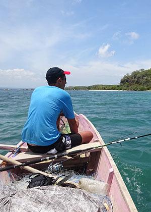 Keuvin à la pêche