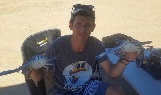 Keuvin avec notre pêche à Port Parham