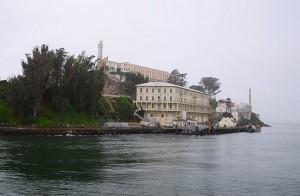Arrivée à Alcatraz à San Francisco