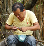 Ronald, notre guide dans l'Amazonie