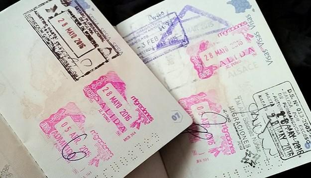 Les visas sur les passeports