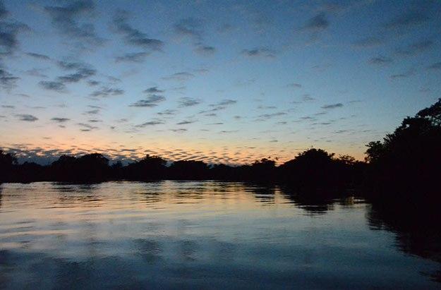 Un lever de soleil en toute tranquilité