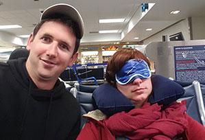 Soirée dans un aéroport