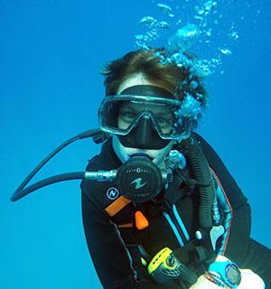 Ninon en plongée
