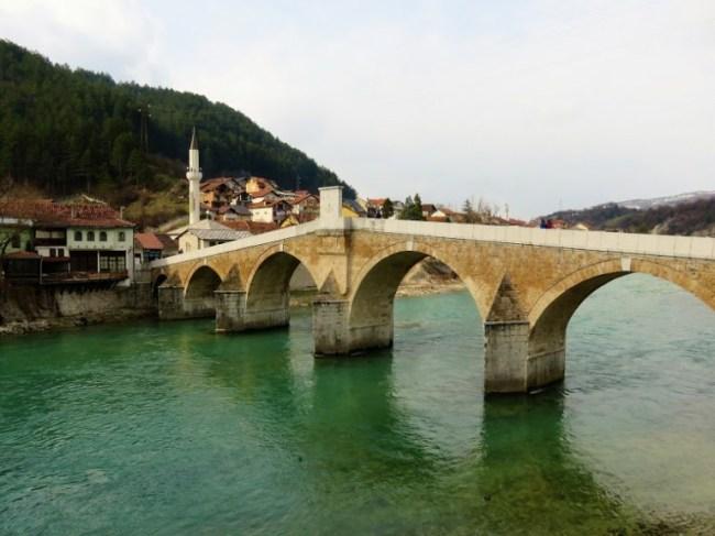 Old bridge in Konjic Bosnia