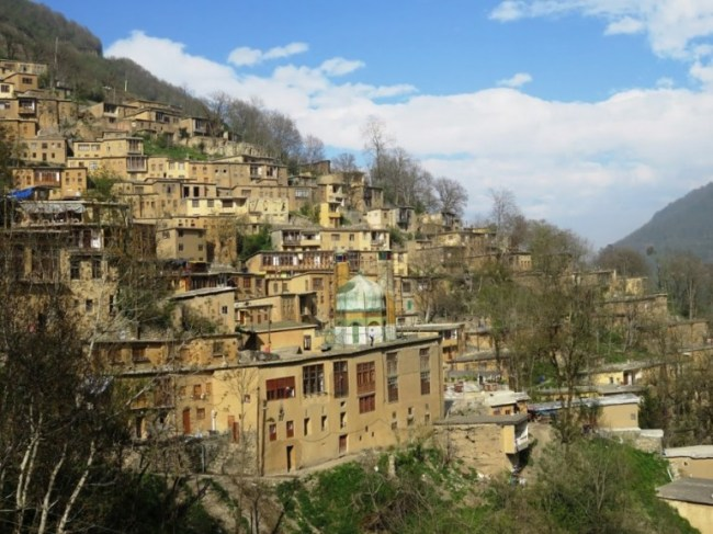 The stepped houses in the village of Masuleh Iran