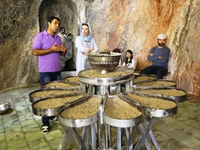 The Zoroastrian water temple of chak chak near Yazd Iran