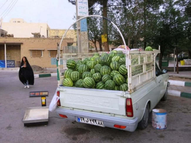 melons for sale near Yazd Iran