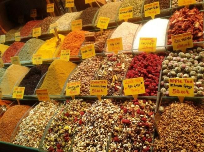 tea at the grand bazaar in Istanbul