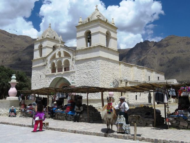 Church in Yanque. One of the stops on our Colca Canyon tour