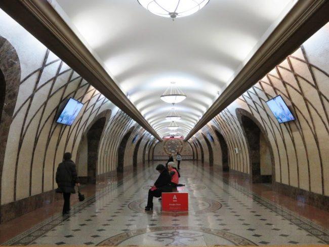 Metro station in Almaty Kazakhstan