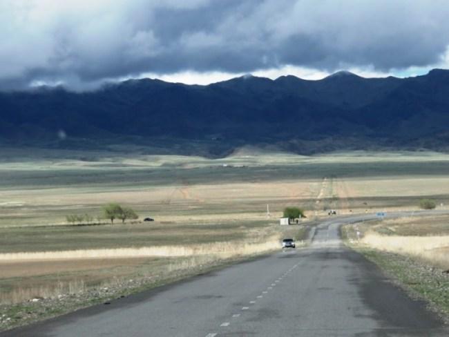 Road to Kolsai Lakes