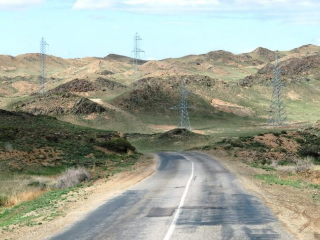 the road to the Charyn Canyon