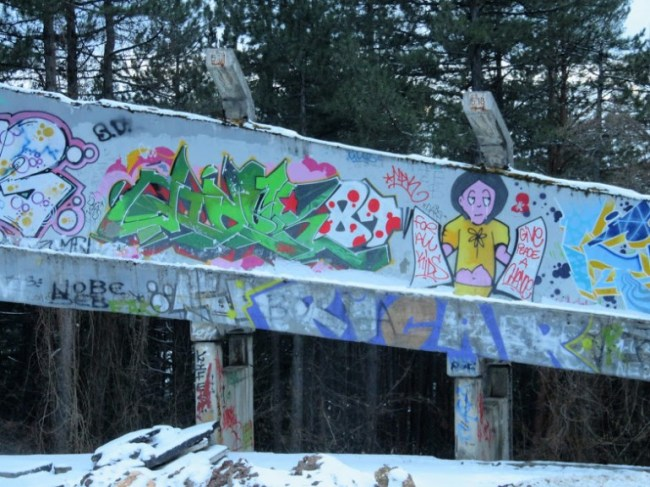 The abandoned bobsleigh track at Trebevic mountain is among the top things to do in Sarajevo Bosnia