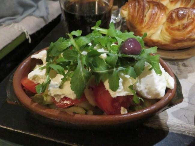 Salad at Dveri restaurant in Sarajevo