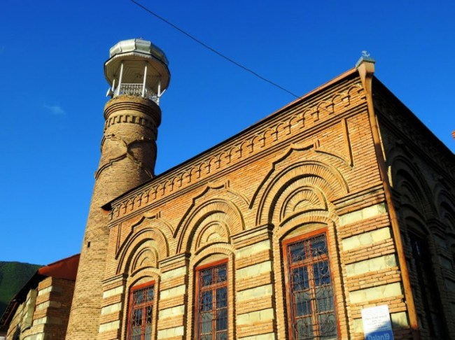 Mosque in the old town in Sheki