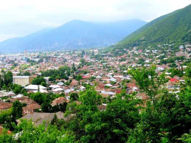 view on Sheki in Azerbaijan