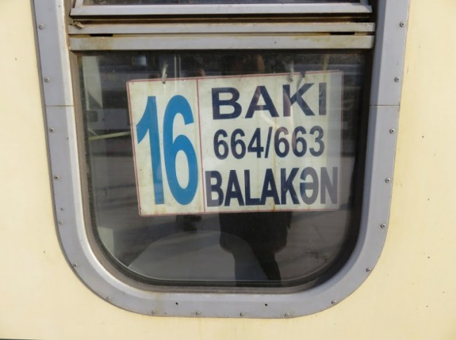 train from Sheki to Baku