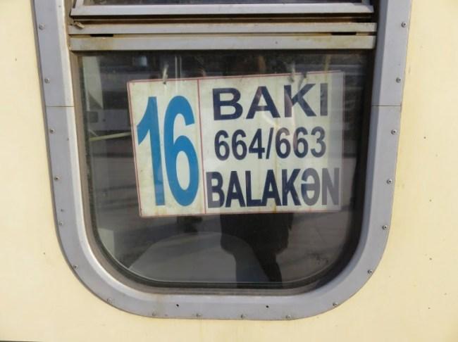 train from Sheki to Baku