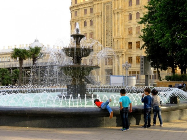 Fountain square in Baku