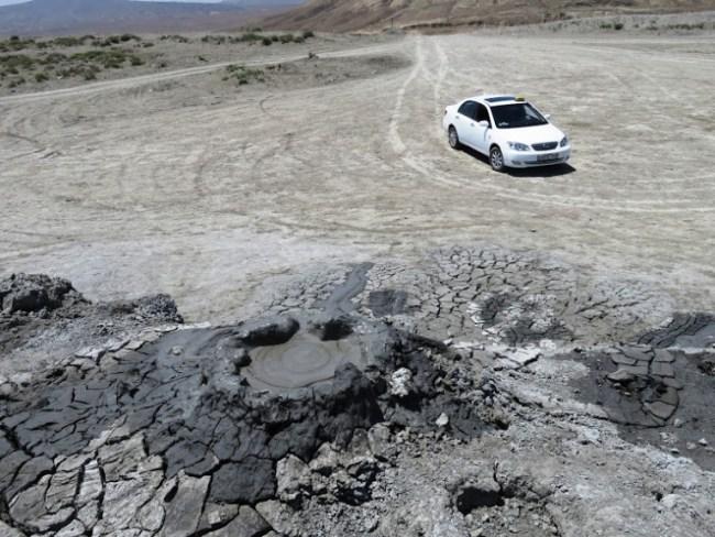 Gobustan mud volcanoes in the Absheron Peninsula