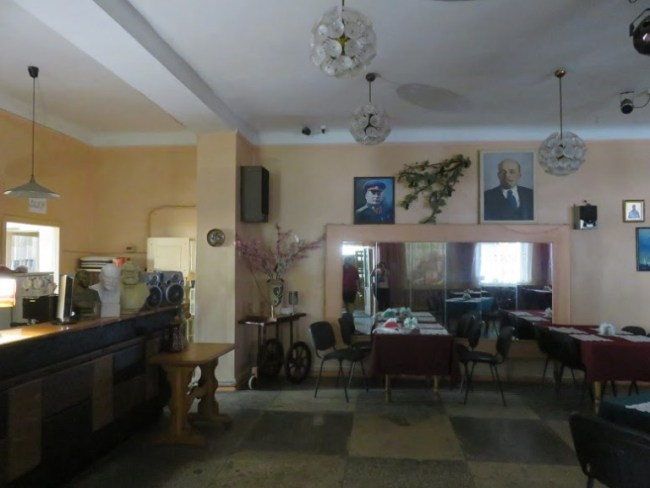 interior of cafe bar Volna in Tiraspol