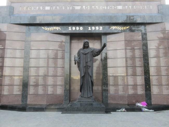 the memorial of glory in Tiraspol